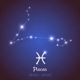 Vector zodiac horoscope constellation - Pisces
