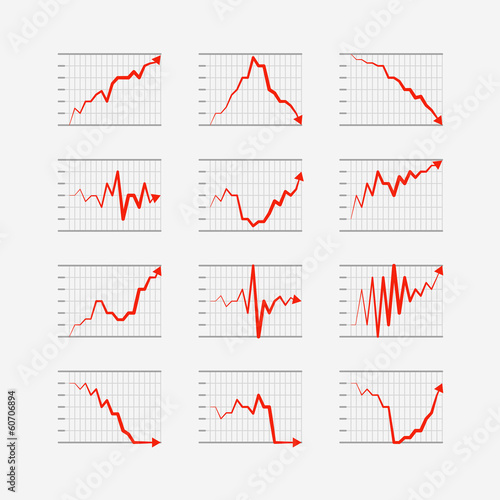 Graphic business ratings and charts collection