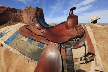 selle de cheval à Monument Valley, Arizona