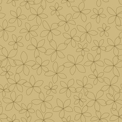 Seamless Brown Flowers