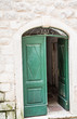 Open Green Door in Kotor