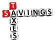 3D Savings Taxes Crossword