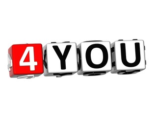 3D For You  Button Click Here Block Text