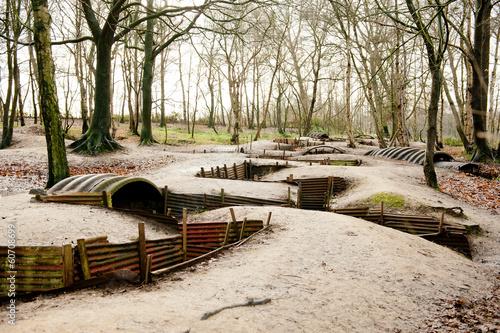 Aluminium Vestingwerk WW1 Trenches, Sanctuary Wood, Ypres, Belgium