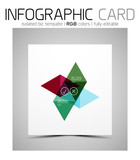 Geometric shape infographic business card