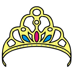 tiara vector drawing
