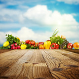 Vegetable background with copy-space for You project