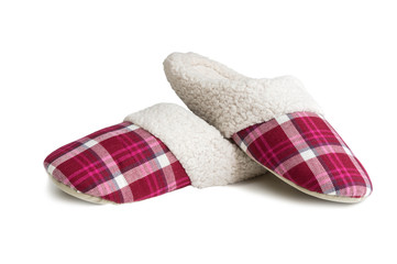 home slippers isolated on white background