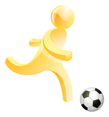 Person playing soccer