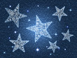 Christmas stars and snowflakes