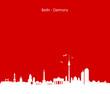 Skyline Berlin rot