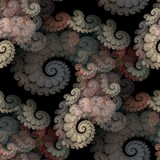 Seamless tileable  spirals pattern for backgrounds poster