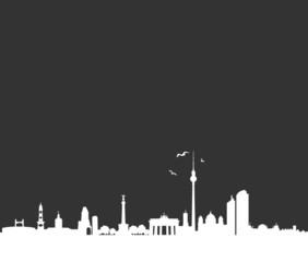Skyline Berlin schwarz