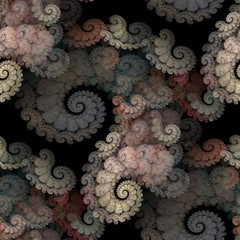 Seamless tileable  spirals pattern for backgrounds