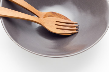 Spoon on plate