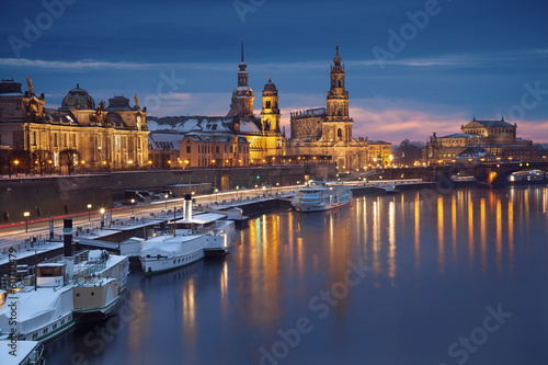 canvas print picture Dresden.