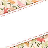 floral background of lilies