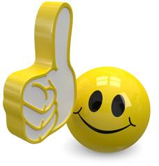 Daumen hoch gelber Smiley
