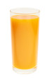 Tall glass full of orange carrot juice