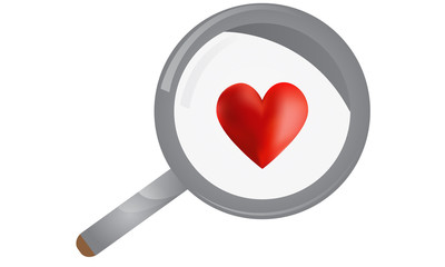 Heart Magnifying Glass