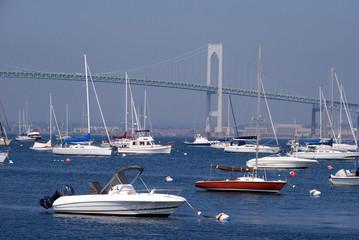 boats in harbor, Newport