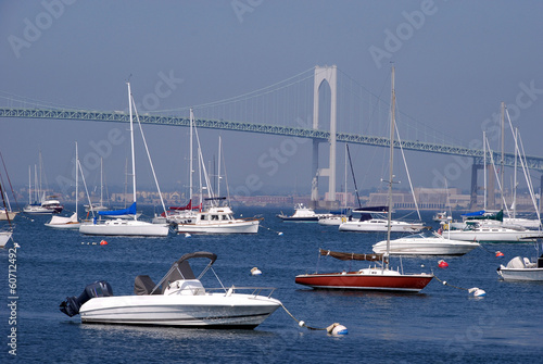 boats in harbor, Newport