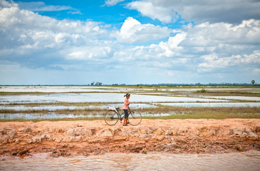 Cambodian people live beside Tonle Sap Lake, Cambodia .