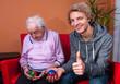 Großmutter mit Teenager