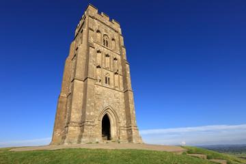 The historic Glastonbury Tor in Somerset, England