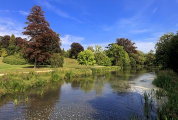 Riverbank .Blenheim Palace, England, United Kingdom