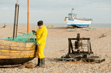 Fisherman At Work, Dungeness, Kent, UK