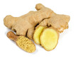 dried ginger isolated on white