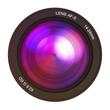 Camera lens pink
