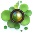Photographic green background
