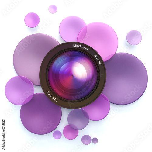 Photographic pink background