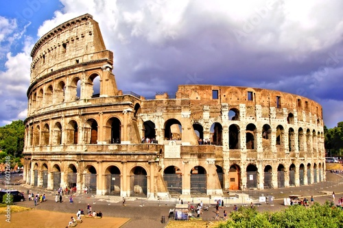 View of the Colosseum, Rome, Italy