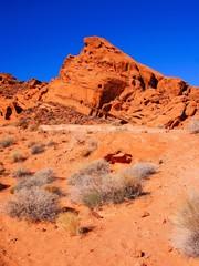 Vibrant red desert, Valley of Fire State Park, Nevada