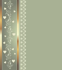 abstract background with ornaments and hearts