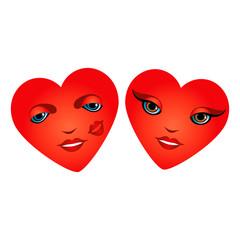 Cute couple of hearts.