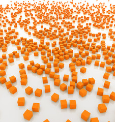 orange cubes background