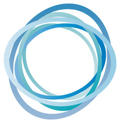 Kreis - abstrakte Ringe - blau - hellblau
