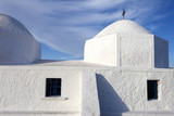 White Church in Aegina Island, ooast of Athens in Greece.