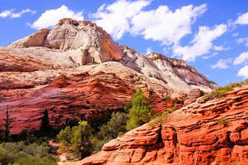 Colorful peaks of Zion National Park, USA