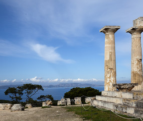 Aphaia temple in Aegina Island ,Greece