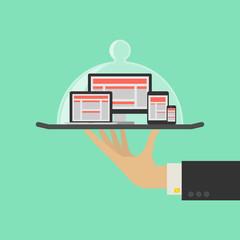 Responsive Web Design Service Concept. Vector