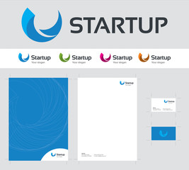 Modern startup logo