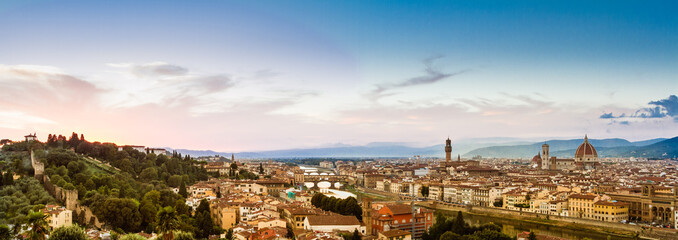Firenze, Panoramica al Tramonto