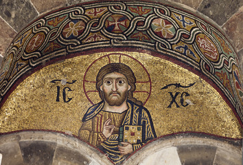 Christ.Mosaic of Ossios Loukas Monastery.Greece.