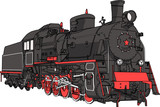 Train locomotive vector