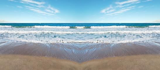 symmetrical beach